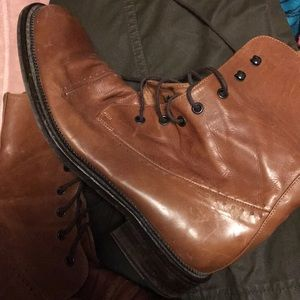Camel Leather Boots Italian